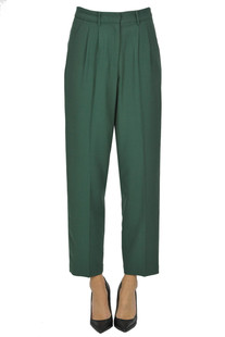 Viscose and wool trousers Pomandere