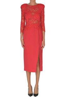 Sheath dress with lace top Elisabetta Franchi