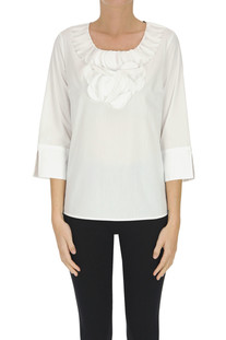Cotton-blend blouse Camicetta Snob