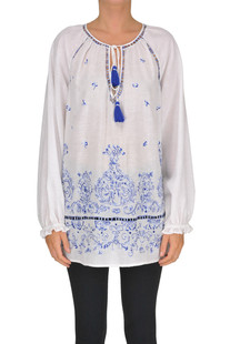 Embroidered linen blouse Ermanno by Ermanno Scervino
