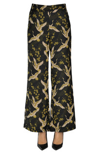 Printed satin trousers Traffic People