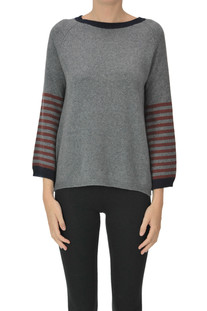 Merinos wool and cashmere pullover Incontro 7