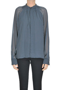 Polka dots crepè blouse Diesel Black Gold