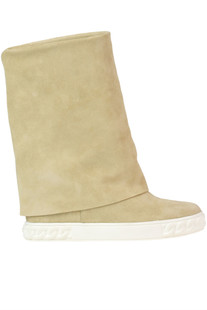 Roll top suede boots Casadei