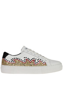 Embellished leather sneakers MOA Master of Arts