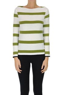 Striped viscose pullover Base Milano