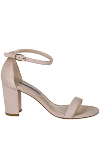 Nearly Nude suede sandals Stuart Weitzman