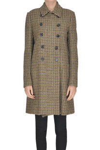Hound's tooth print double breasted coat Dondup