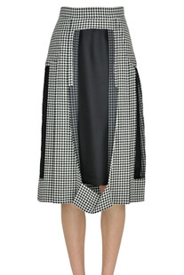 Hound's tooth print skirt MM6 by Maison Martin Margiela