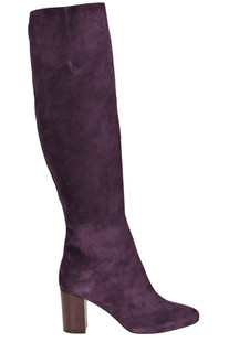 High leg suede boots Paola D'Arcano