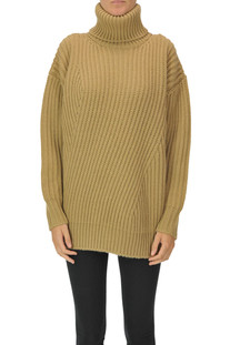 Ribbed knit turtleneck pullover  MSGM
