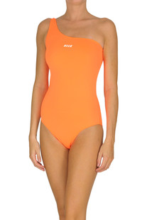One shoulder swimsuit MSGM