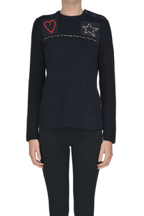 Ribbed wool knit pullover Valentino