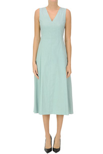 Flared linen-blend dress Theory