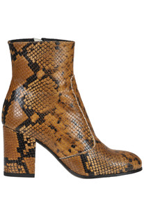 Reptile print leather ankle boots Lemaré
