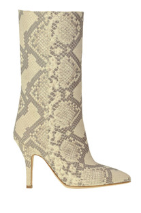 Reptile print leather boots Paris Texas