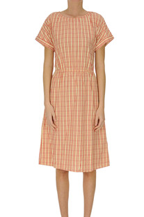 Checked print cotton dress Bellerose