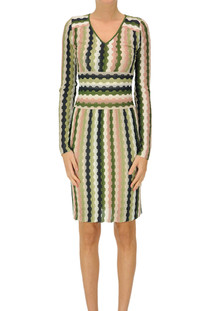 Textured knit sheath dress M Missoni