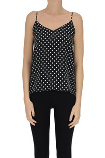 Polka dot print silk top Equipment