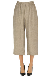 Cropped linen trousers Blitz