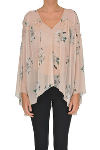 Flower print silk blouse Dondup