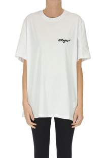 Chest designer logo t-shirt MSGM