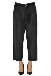 Pinstriped cotton trousers Bellerose