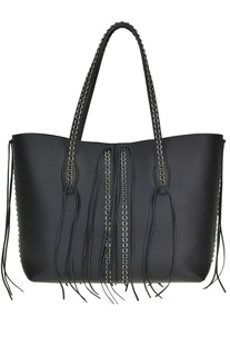 Anj Rings leather shopping bag Tod's