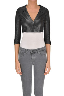 Cropped leather jacket Myskin