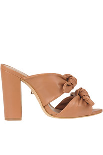 Leather mules with bows Schutz