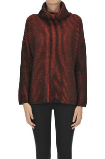 Ribbed knit turtleneck pullover  Base Milano