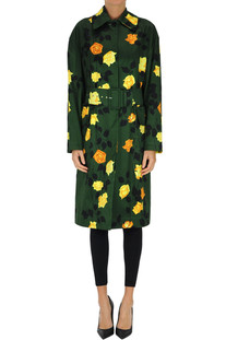 Flower print trench coat MSGM