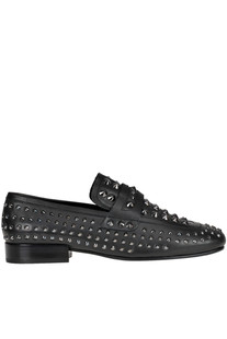 'Enigma' studded leather mocassins Ash