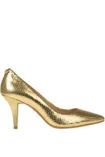 Flex metallic effect leather pumps Michael Michael Kors