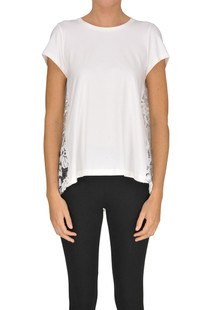 Lace insert t-shirt 1 One