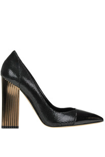 Reptile print leather pumps Luciano Padovan
