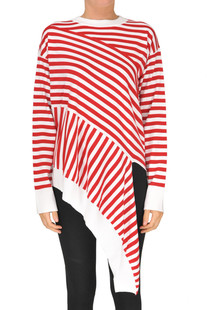 Striped asymmetric pullover MM6 by Maison Martin Margiela