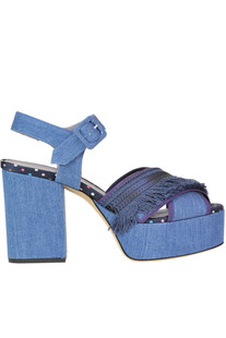 Embellished denim sandals G Di G