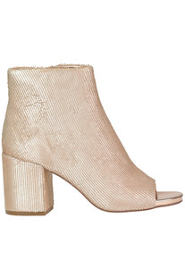 Textured metallic effect leather ankle-boots Elvio Zanon