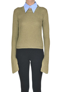 Ribbed lurex knit pullover Jejia