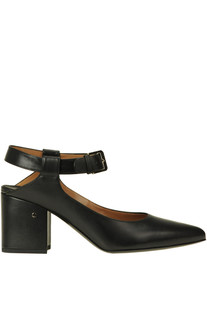 Leather slingback pumps Laurence Decade