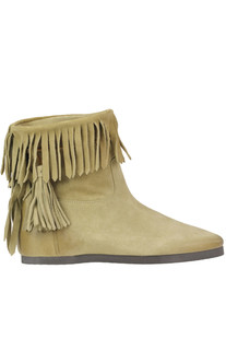 Fringed suede ankle boots Twin-set  Simona Barbieri