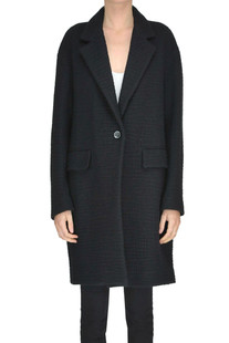 Textured wool knit coat Pomandere