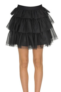Flounced tulle skirt Pinko