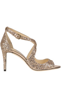 'Emily' glittered leather sandals Jimmy Choo
