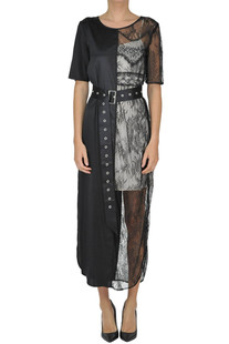 Silk and lace dress Twin-set  Simona Barbieri
