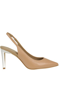 Leather slingback pumps Kendall+Kylie