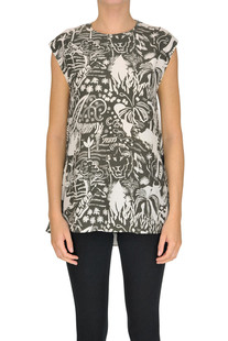 Printed silk top Aspesi