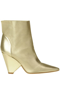 Metallic effect nappa leather ankle-boots Dondup
