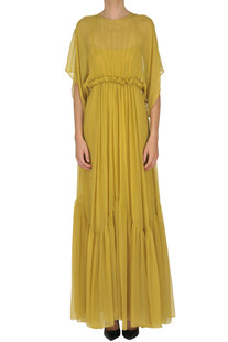 Crepè silk long dress N.21